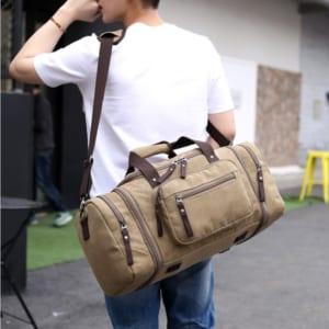 Túi du lịch vải DL07 -3 màu vàng nhạt