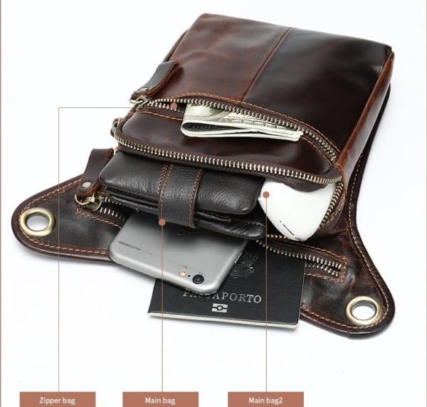 Thiết kế ngăn kéo của túi đeo hông IP042