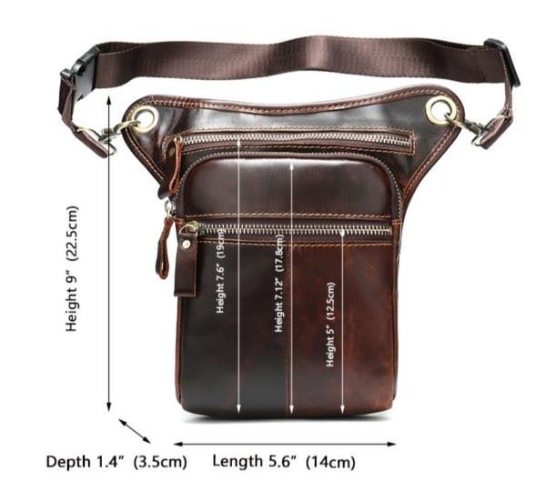 Kích thước chi tiết túi xách nam IP042